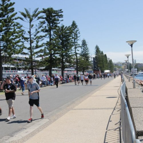 Foreshore at Newcastle during the Newcastle 500