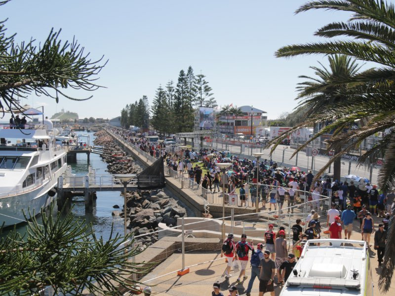 Foreshore and start finish main strate at Newcastle 500.