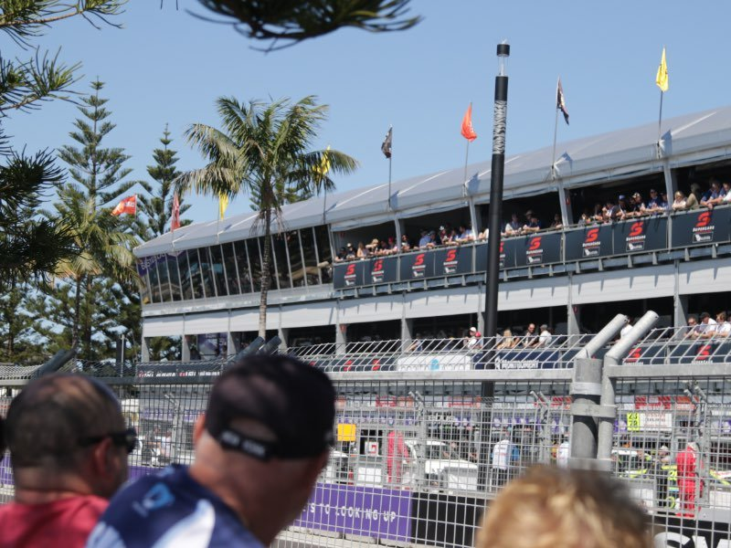 Grandstand at start/finish @ Newcastle 500.