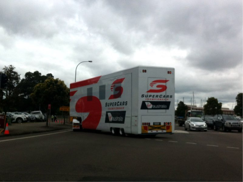Supercars pull out of town after the Newcastle 500.